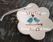 Personalized Christmas Ornament  Love Birds