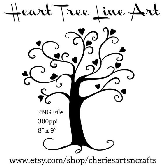 Heart Tree Silhouette Tree Silhouette PNG File Tree Clip