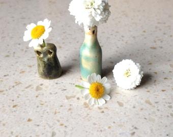 tiny vessel, ceramic, kiln fired, tiny vase