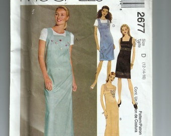 McCall's Misses'  Dress or Jumper in Two Lengths Pattern 2677