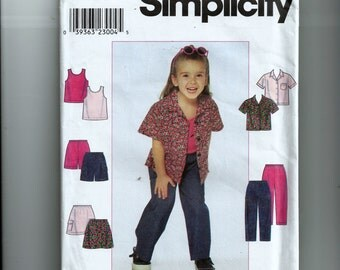 Simplicity Child's Shirt, Skirt, Pants or Shorts and Knit Tank Top Pattern 8716