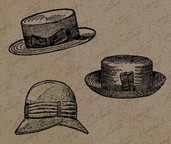 Vintage Clip Art - Ladies Hats - The Graphics Fairy  |Vintage Hat Art