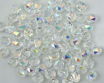 Swarovski 5025 4mm Crystal AB Faceted Round Bead