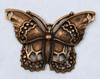 40mm Antique Copper Butterfly Charm #CMC758