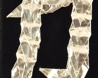 Silver Strength Kanji ACEO --  Origami Crane Art