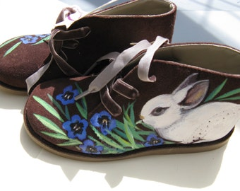 Hand-painted vegan Children's Shoes - size 12