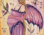 open edition aceo trading card Fairy pregnancy 2.5x3.5 inches by renee