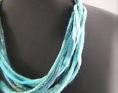Blue Nuno corded necklace a SugarPlum Original by J. Gauger