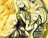 Götterdämmerung Art Print  -  Wagner - Opera Art - Der Ring des Nibelungen
