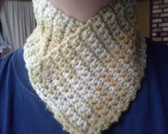 brown cream and tan  neckwarmer
