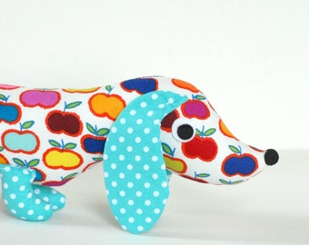 Childrens Toy Stuffed Animal Plush Wiener Dog Dachshund Soft Baby APPLE