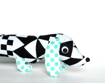 Wiener Dog Softie, Plush Dog,  Dachshund Toy, Plush Wiener Dog, Gift for Dog Lover ZUZU