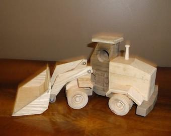 wooden front loader