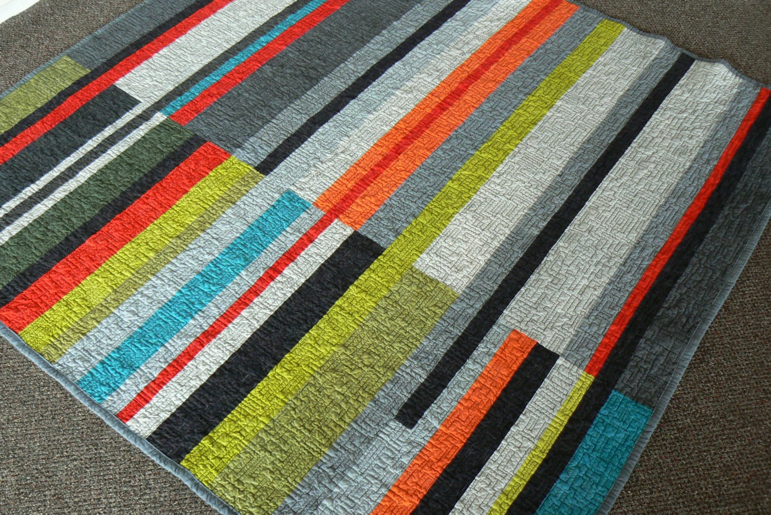 Mid Century Modern Quilt Take 2 Made To Order By