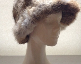 Vintage 70s Adolfo rabbit fur hat