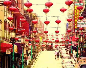 San Francisco Photography - Chinatown Print, California, Travel, Vacation, Lanterns, Magical