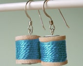 Earrings - Spools of Thread in Pool