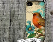 Shabby Red Bird Phone Case for  iPhone 4 4s 5 5s 5c SE 6 6s 7  6 6s 7 Plus Galaxy s4 s5 s6 s7 Edge