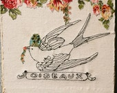 Embroidery Collage - Freestyling - Oiseaux