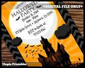 Printable Halloween Haunted House Invitation