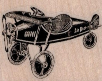 Toy Airplanerubber stamp cling stamp, unmounted or   wood mounted rubber stamp   number 19414