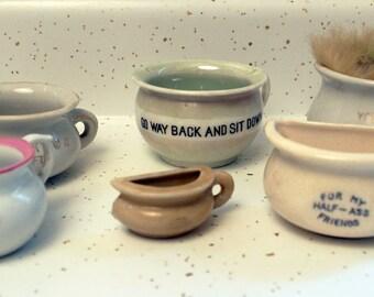 6 piece souvenir chamber pot collection