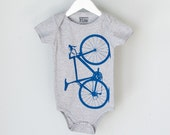 OOPS! Sale - VITAL BICYCLE 6-12mo Infant Heather One Piece lapis on grey 068