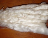 Undyed Mohair roving for spinning / 8 ounces