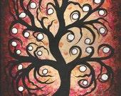 Tree painting, Original fine art, Acrylic painting by Jordanka Yaretz, UNICEF Artist
