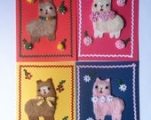 Adorable Handmade Llama Alpaca Alpacasso Blank Notecards with Flowers     Originally 8.00- now marked down to 6.00