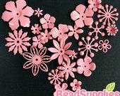 FG-FG-09072SP- Nickel free, Color enameled, Sampler set of flower filigree, coral pink, 24 pcs