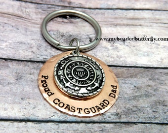 Coast guard keychain-USCG-Coastie-coast guard emblem
