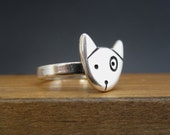 Spot - Sterling Silver Dog Ring