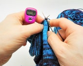 Pink Row Counter for Knitting And Crochet - Fits On Your Finger!