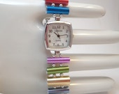 Knitting needle watch -- for medium wrist