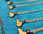 Brass Kentucky necklace