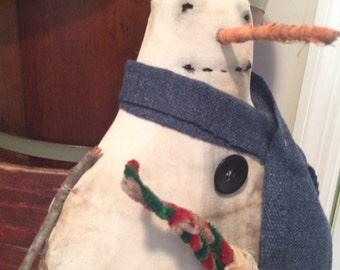 Primitive Stick Snowman