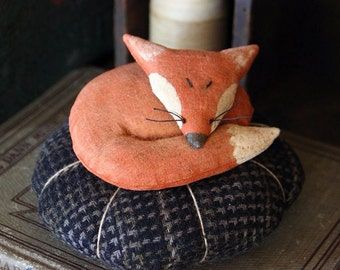 Primitive Fox Pincushion Digital PDF Pattern