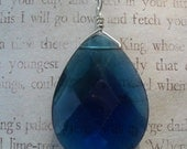 Glass Pendant  with sterling findings