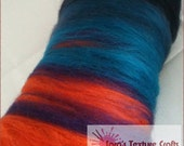 AFTER THE STORM Stripe 100g (3.53oz) Hand Carded Batts for Felting, Dreads, Spinning