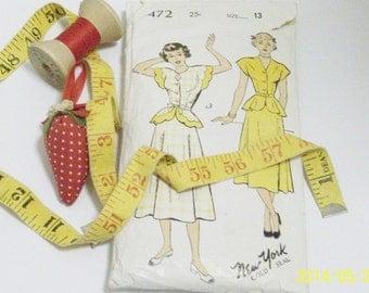 Vintage 1940's Dress Pattern | New York Pattern Co