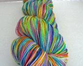 Hand Painted Yarn Superwash fingering weight Confetti Colorway 100gr