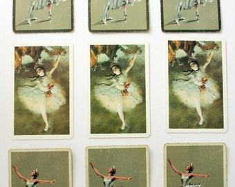 Nine Vintage Playing Cards Ballet