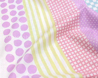 Japanese Fabric Kokka polka gingham stripes - A - 50cm