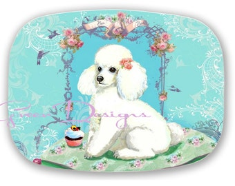 ThermoSaf Poodle Serving Platter Tray Gift Birthday Party 100% Made in America USA