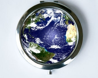 Planet Earth Compact MIRROR Pocket Mirror outer space