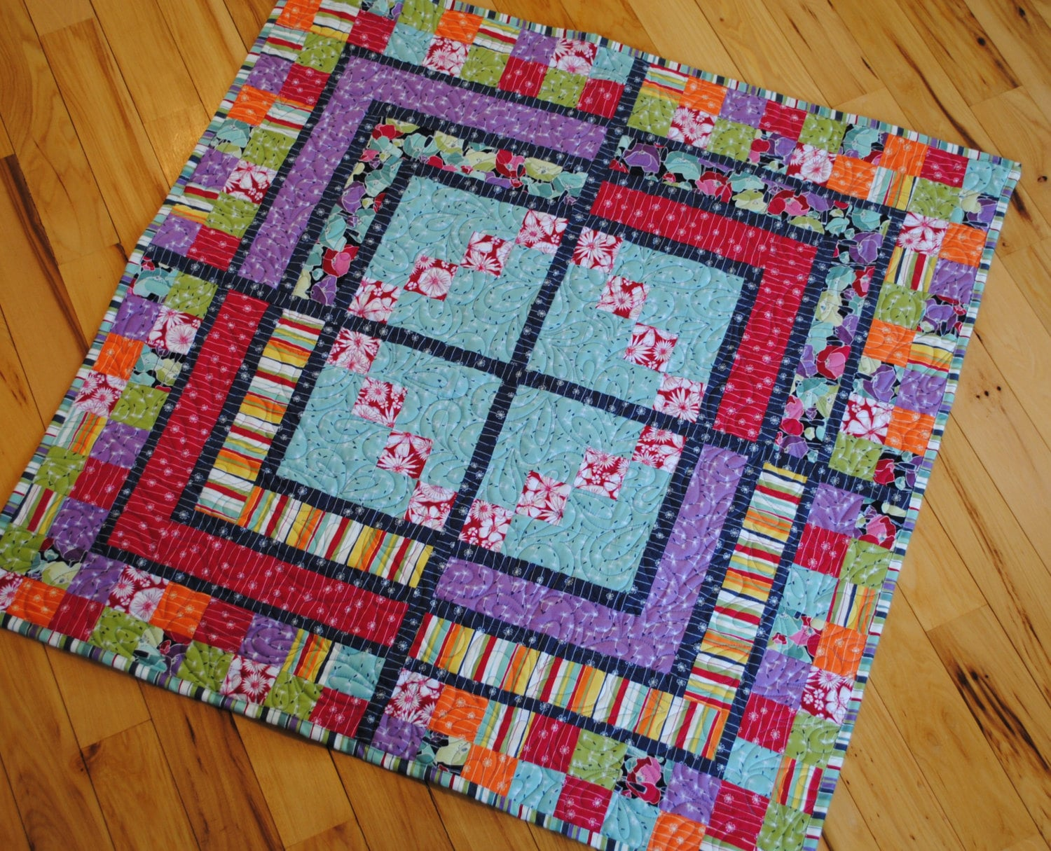 Quilt Pattern For 9 Fat Quarters : Baby QUILT PATTERN....Quick and Easy...Fat Quarter by sweetjane