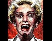 "Print 8x10"" - Satan - Forbidden Zone Danny Elfman Devil Horns Musical Movies Horror Queen Pop Art Lowbrow Art Cult Bizarre 80s Oingo Boingo"