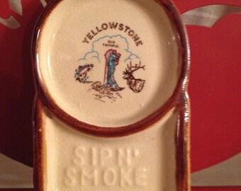 Yellowstone Ash tray Sip'N Smoke
