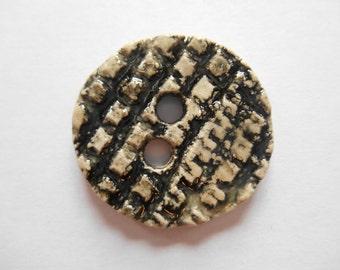 Handmade unique Stoneware textured buttons.